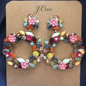 J crew colorful floral hoop